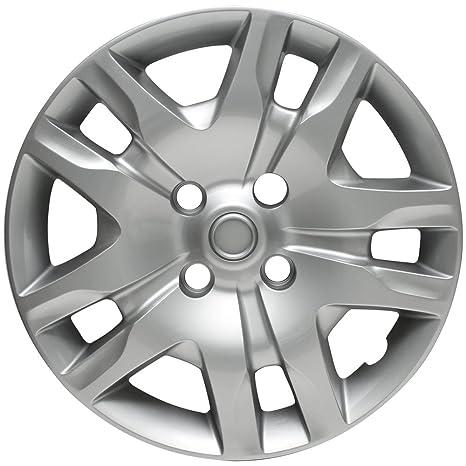 Tapacubos para Nissan Sentra, 07 – 16 plata AUTO Hub Covers, OEM Genuine Factory