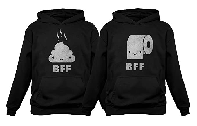 Amazoncom Bff Funny Best Friends Matching Set Poop Toilet