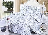 Beddinginn Fresh Pastoral Blue Flowers Print 4-piece Cotton Duvet Cover Set (Twin) offers