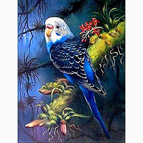 5D Diamond Painting Kits for Adults Full Drill Parrot Rhinestone Embroidery Dotz Craft Cross Stich Gift Home Decor Large Size 40x50cm//16x20inch