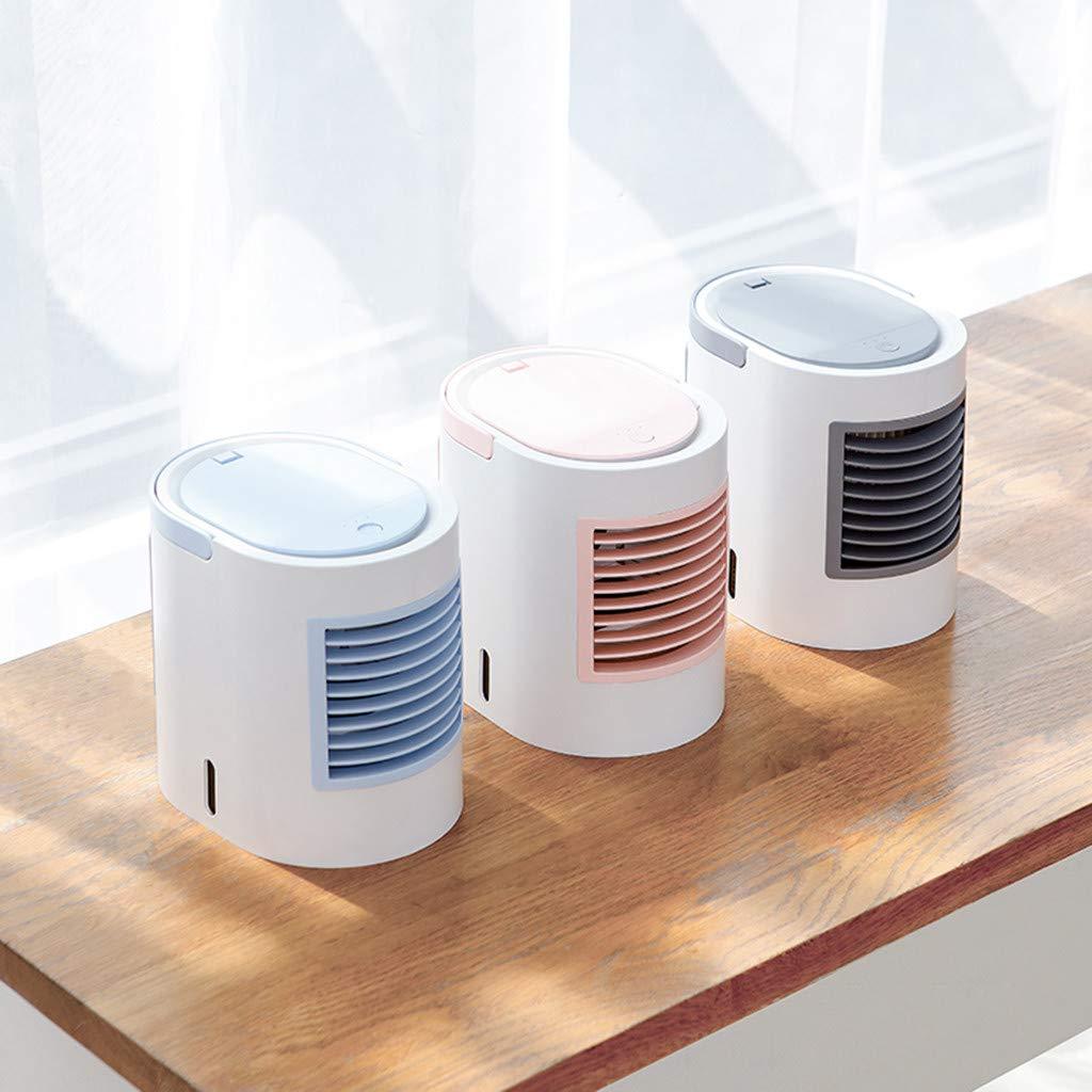 Rose Climatiseur Portable Refroidisseur dair 4 en 1 Ventilateur de Climatisation Silencieux Mobile Mini Personnel Air Refroidisseur Humidificateur 3 Vitesses