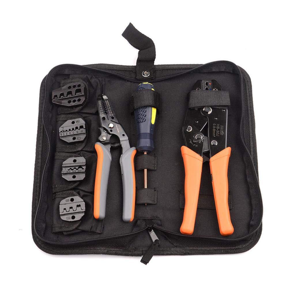 Yongse Kit d'outils à sertir 5 Iawss modifiables pour Les Commandes isolées et Non isolées 0.5-35mm