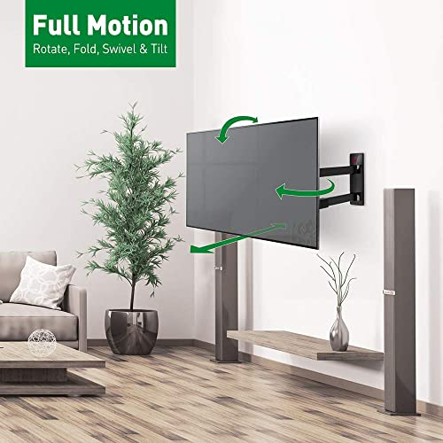 Barkan TV Wall Mount, 40-70 inch Full Motion Articulating – 4 Movement Long Flat Curved Screen Bracket, Up to 88 lbs, Extremely Extendable, Lifetime Limited Warranty, UL Listed, Fits LED OLED LCD