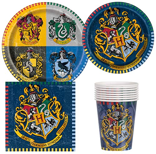 Unique Industries Harry Potter Birthday Party Supplies Pack for 8 Guests Including Lunch Plates, Dessert Plates, Lunch Napkins, Cups -