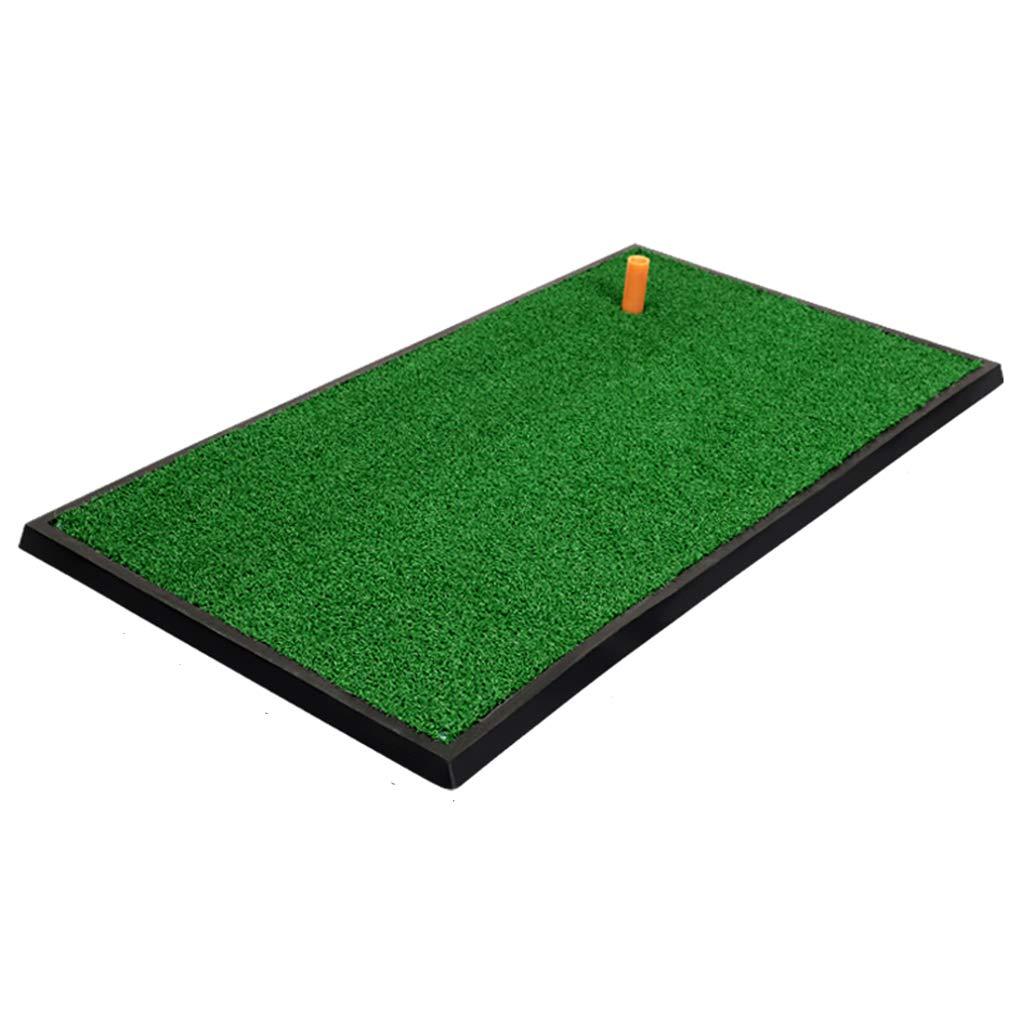 ゴルフフード ゴルフマット、持ち運びに便利な室内スイング練習パッド厚手ポールパッド33×63cm   B07MPBM5X9