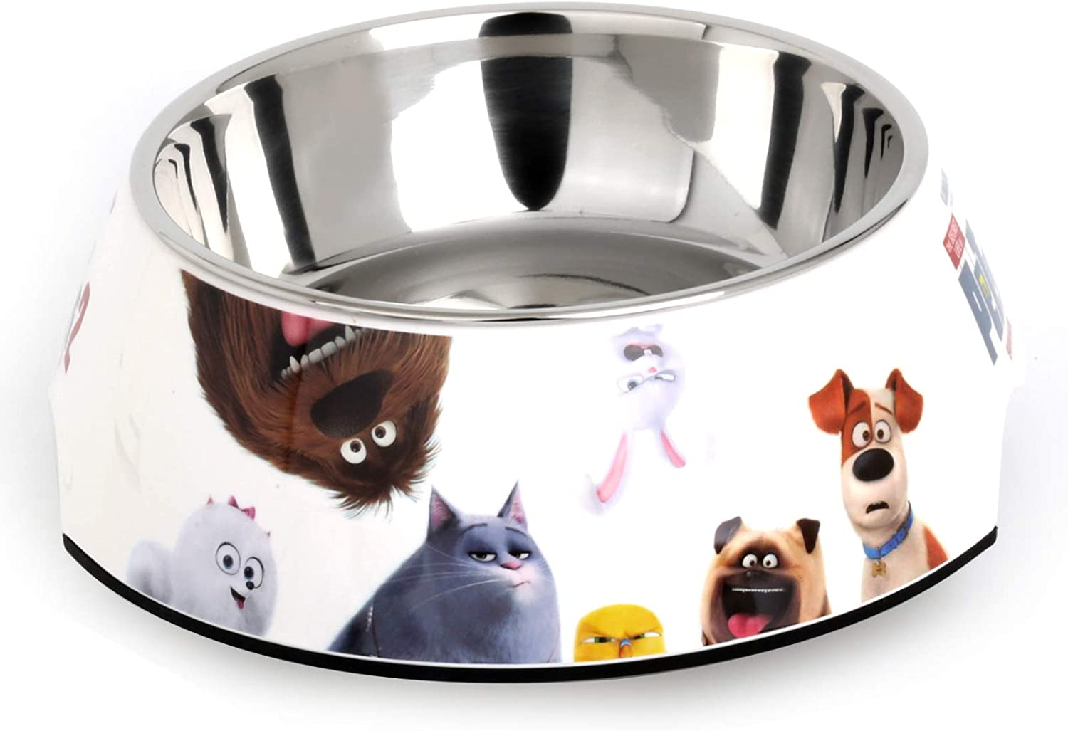 Bohuma Cat Dog Bowls Stainless Steel Splittable Bowls with Non-Spill Base Pet Feeder Easy to Clean Holding Food and Water Dish,MW356-style06-Large