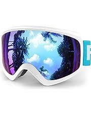 a996e22978e findway Masque de Ski Protection pour Enfant Lunette Ski Masque Ski OTG de  Garçon ou Fille