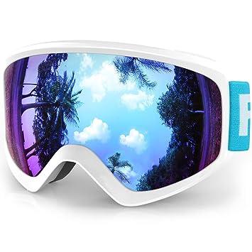 40d86a8360 Findway Gafas Esqui Niño Mascara Esqui Niño Gafas de Esqui Niño Niña OTG  Ajustable para Niños
