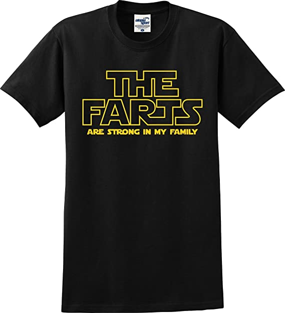 b8f17546ab Amazon.com: The Farts are Strong in My Family Star Wars Parody Funny T-Shirt  (S-5X): Clothing