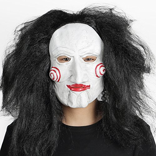Saw Cracks Theme Latex Face Mask for Halloween or Party Dress (Saw Movie Pig Mask)