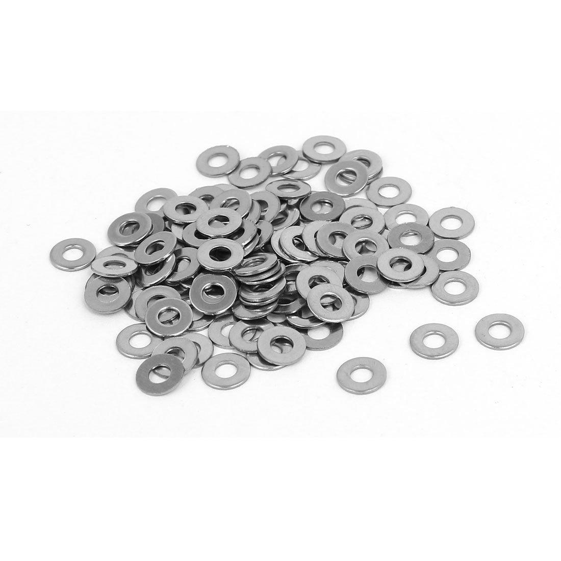 sourcingmap Arandela de nylon M3 x 8 mm x 1 mm redonda plana Junta anillos 100 Piezas