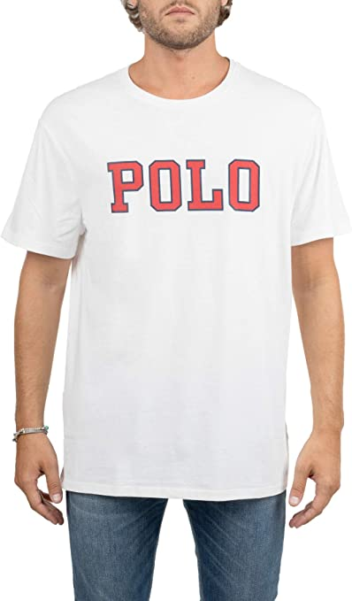 Polo Ralph Lauren Camiseta Blanca de algodón con impresión ...