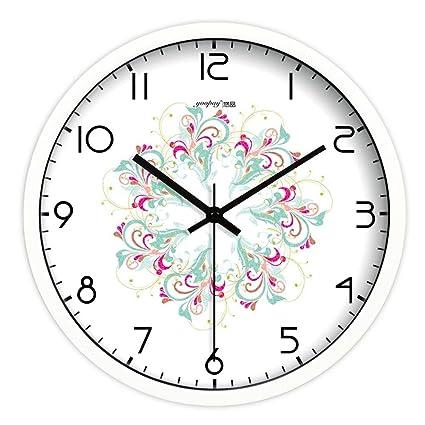 Extremadamente silencioso Yoopay Relojes de pared no barrido tranquilo tictac relojes decorativos para el Salón Dormitorio