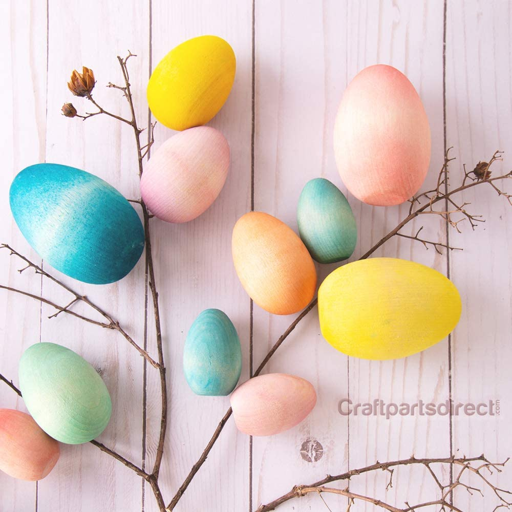 Wooden Egg Ornament Set of 2 Easter*  *Three Styles to Choose from  UnfinishedCraft Supplies*