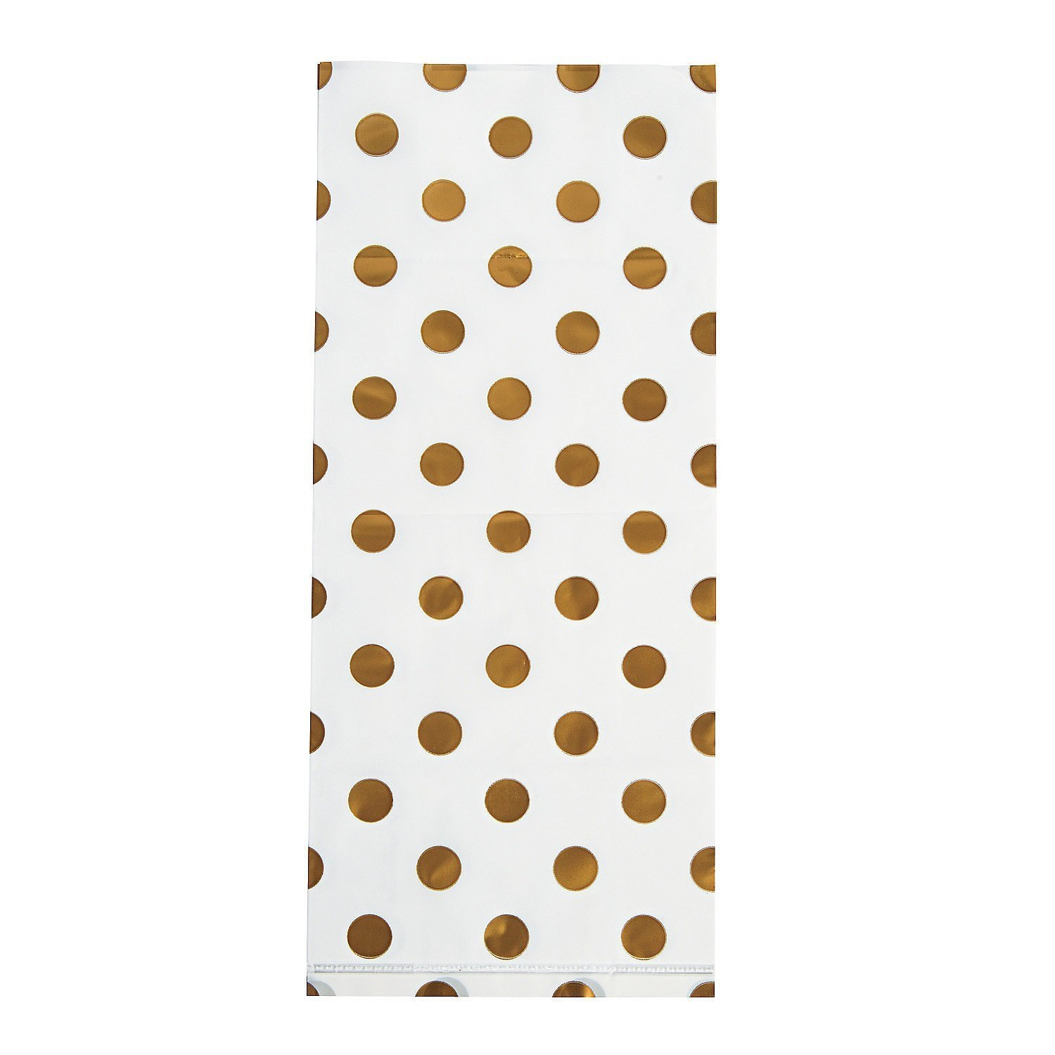 Amazon.com: Gold Polka Dot Cellophane Bags, Pack of 60 Goodie Treat ...