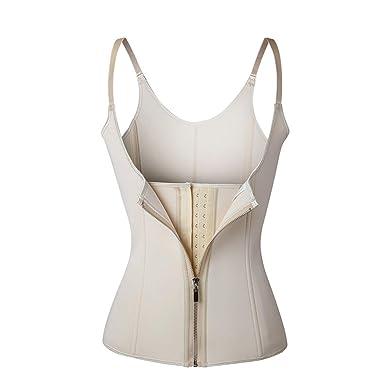 31b7c9ef48 Deaing Adjustable Shoulder Strap Waist Trainer Vest Corset Women Zipper  Hook Body Shaper Waist Cincher Tummy