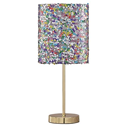 Signature Design by Ashley L857724 Ashley Furniture Signature Design-Maddy Metal Table Lamp with Drum Shade-Contemporary Style-Multi-colored