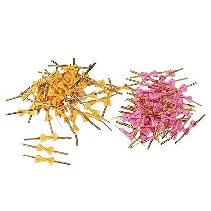 Sharplace 100 Pedazos de Embellecedor de Plástico Twist Ties para Partido Panadería,Rojo Amarillo