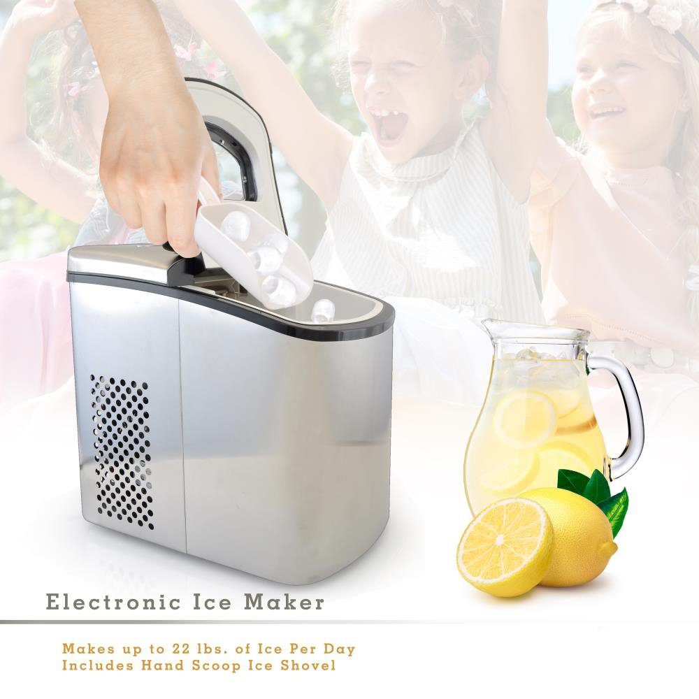Amazon.com: NutriChef Electronic Ice Maker Countertop Stainless ...