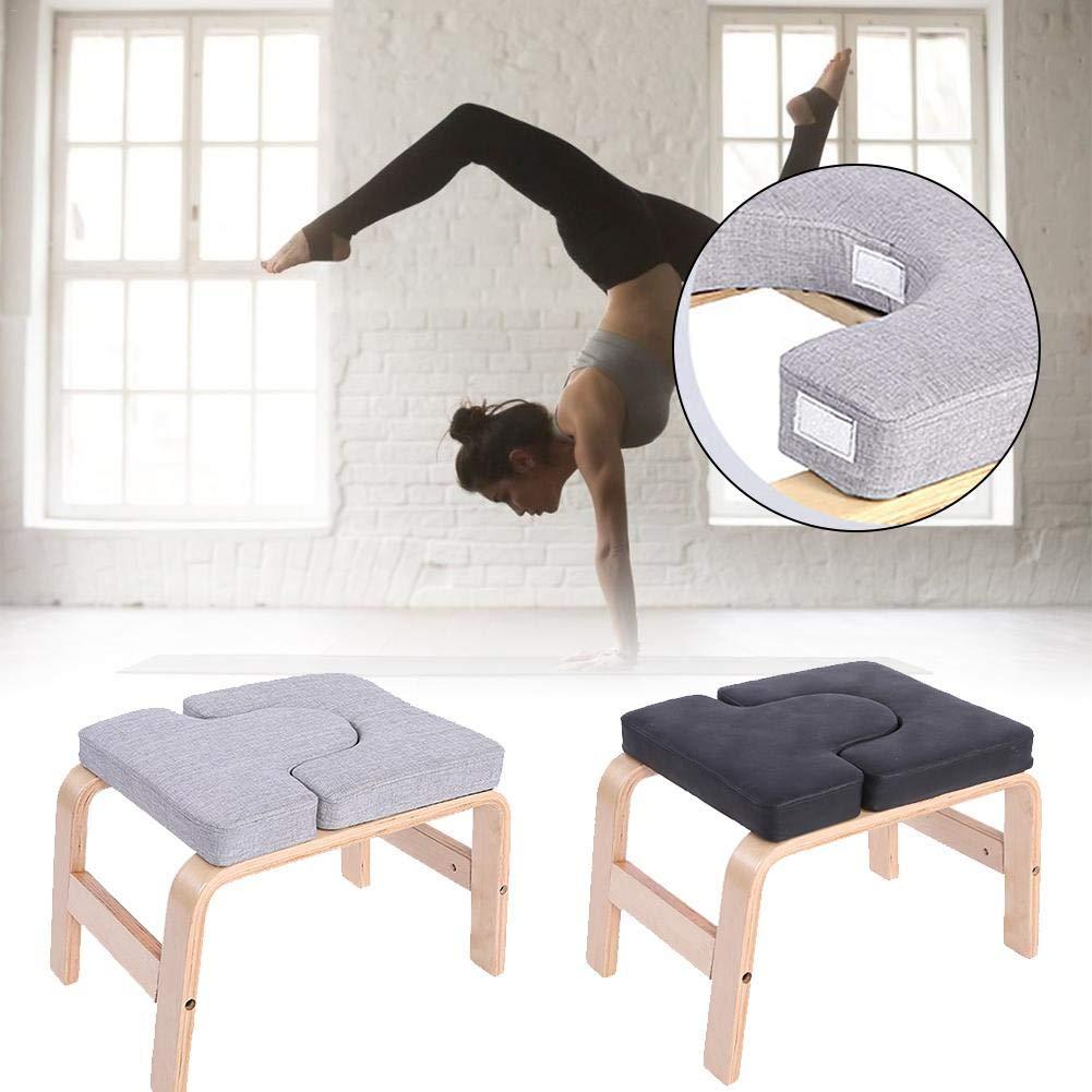 Silla De Inversión De Yoga - Almohadillas De Madera Y PU ...