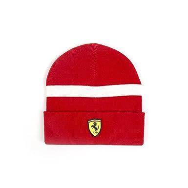 Gorro de punto Ferrari Scuderia Formula 1 2018 rojo blanco OSFA