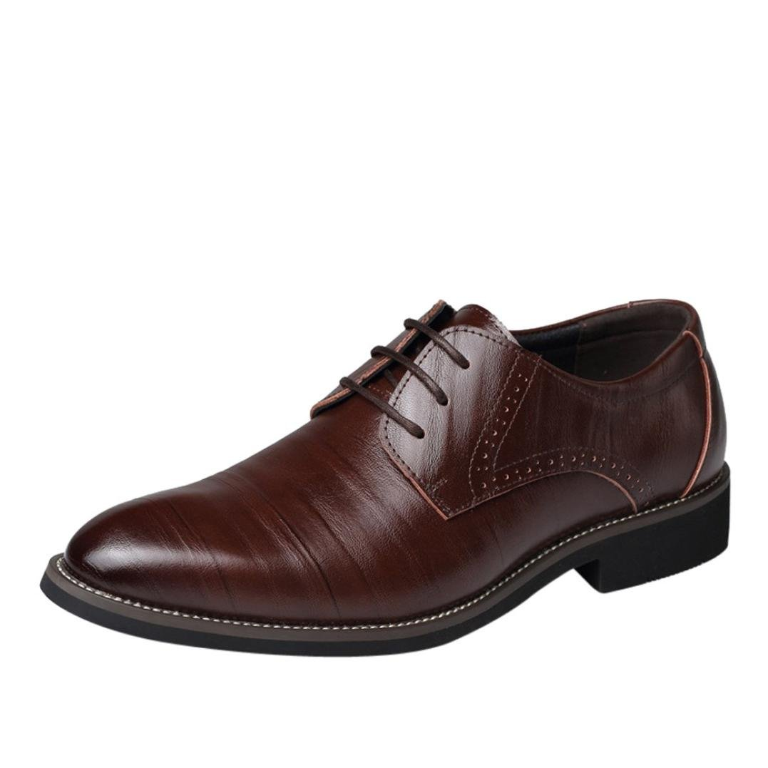 Aurorax 2018 Hot Sale! Mens Classic Leather Pointed Toe Oxford Lace Dress Shoes for Business Wedding Party