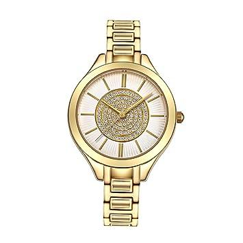 BJ-Female watch Moda Reloj de Dama Reloj Grande de Cuarzo Femenino para Mujer Reloj de Cuarzo Resistente al Agua Reloj - Oro: Amazon.es: Hogar