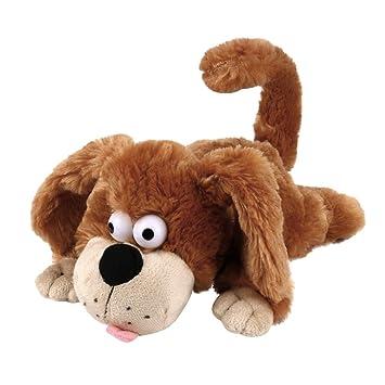 Paellaesp rodillo de inducción alrededor de juguete de peluche perro grito muñeco de peluche