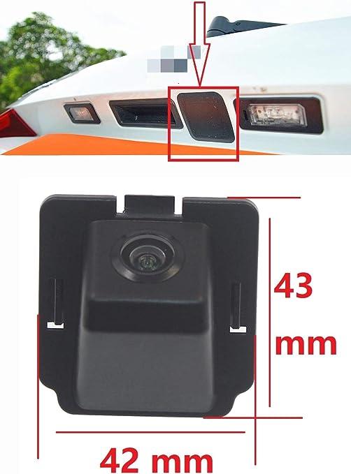 Misayaee Vue Arri/ère de Voiture de Vision Camera de Recul Auto//Voiture /étanche pour Mitsubishi ASX//RVR//Outlander Sport//CS6 Citrone C4 Aircross//Peugeot 4008