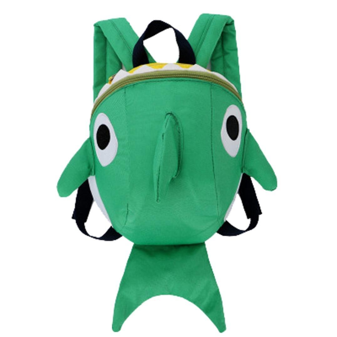 Blue HighlifeS Shark Printed Kids School Backpack Cool Children Bookbag