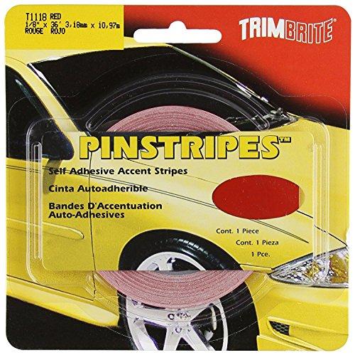 Trimbrite T1118 1/8 Pinstripe Tape Red (6) by Trimbrite