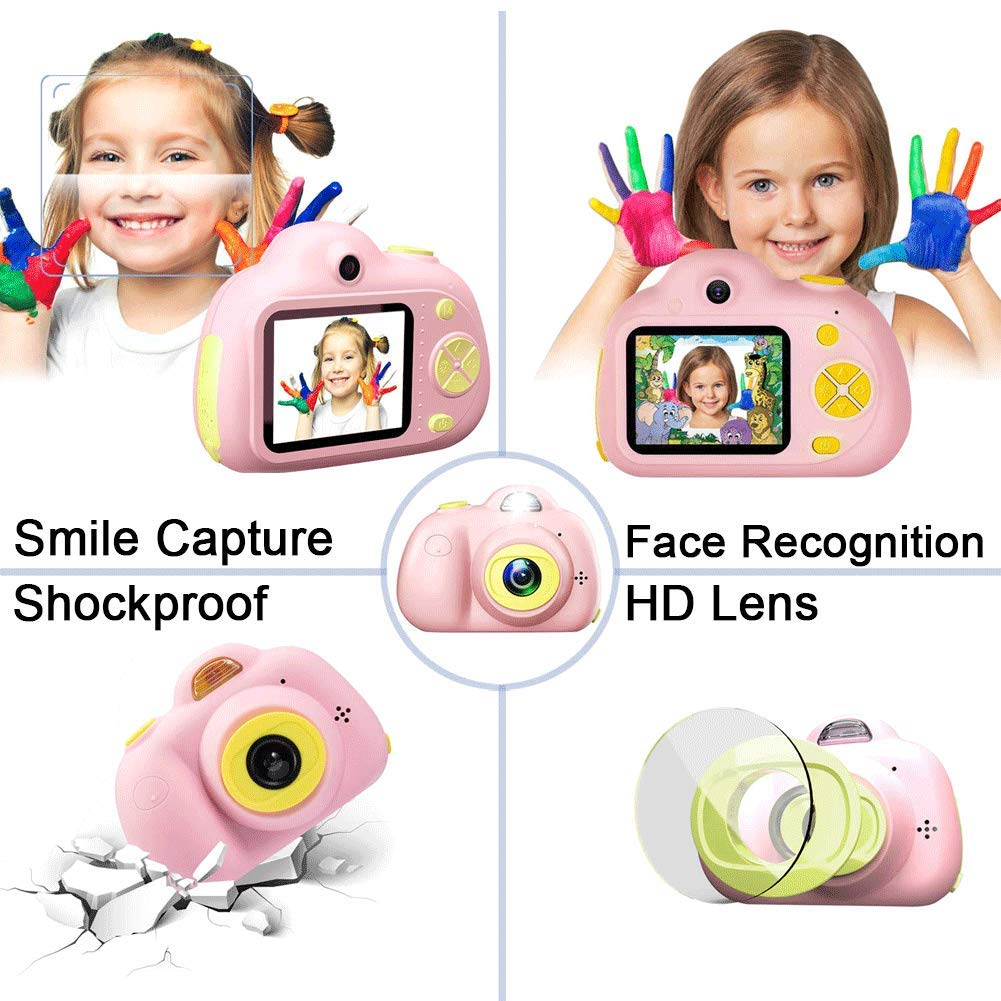 Anviker Kids Camera Gifts for 4-10 Year Old Girls, Shockproof Child Camcorder for Little Girls with Soft Silicone Shell for Outdoor Play, Pink (SD Card Not Includ) by Anviker (Image #5)