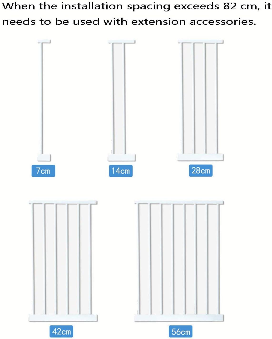 LFDHSF Juguetes para beb/és Puerta de Seguridad para ni/ños sin Perforaciones Barandilla para Mascotas Corredor Puerta Aislamiento Valla