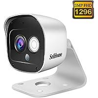 Cámara de Vigilancia WiFi SriHome SH029, Cámara IP 1296P Interiores y Exteriores, Cámara de Seguridad con Visión Nocturna, Impermeable IP66, Detección de Movimiento, Audio Bidireccional