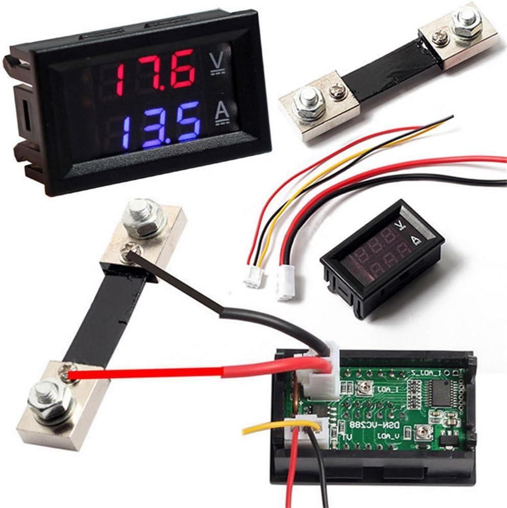 2IN1 AMPEROMETRO ± 100A DC CON SENSORE HALL VOLTMETRO 5V 120V ammeter voltmeter