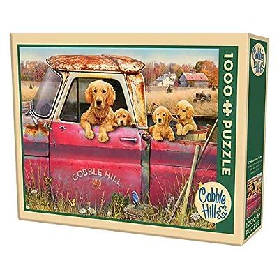 Cobble Hill Farm Jigsaw Puzzle (1000 Piece): Toys & Games
