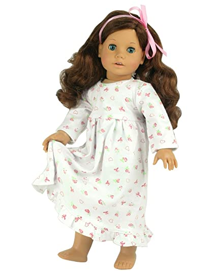58149cb30 Amazon.com  18 Inch Dolls Clothes Nightgown fits American Girl Dolls ...