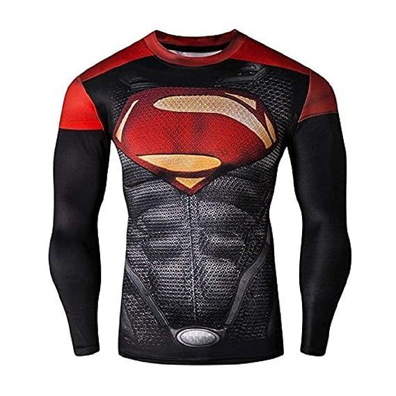 Con Estampado Larga Superman Mujer 16021 Camiseta Manga Para Fq8xwxIP