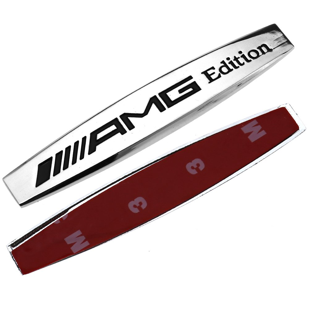 Ersatz AMG Edition 3D Logo Auto Motorhaube Emblem deacl Passend fü r Mercedes Emma
