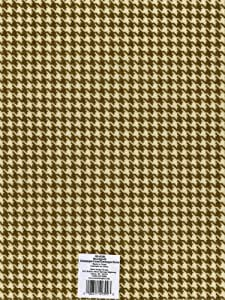 """Printed Felt 9""""X12""""-Houndstooth- Champagne & Cacao"""