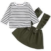 Kucnuzki Baby Girl Clothes Ruffled Outfits Short Sleeve Shirts Tops Suspender Floral Shorts 2pcs Girls Summer Clothes