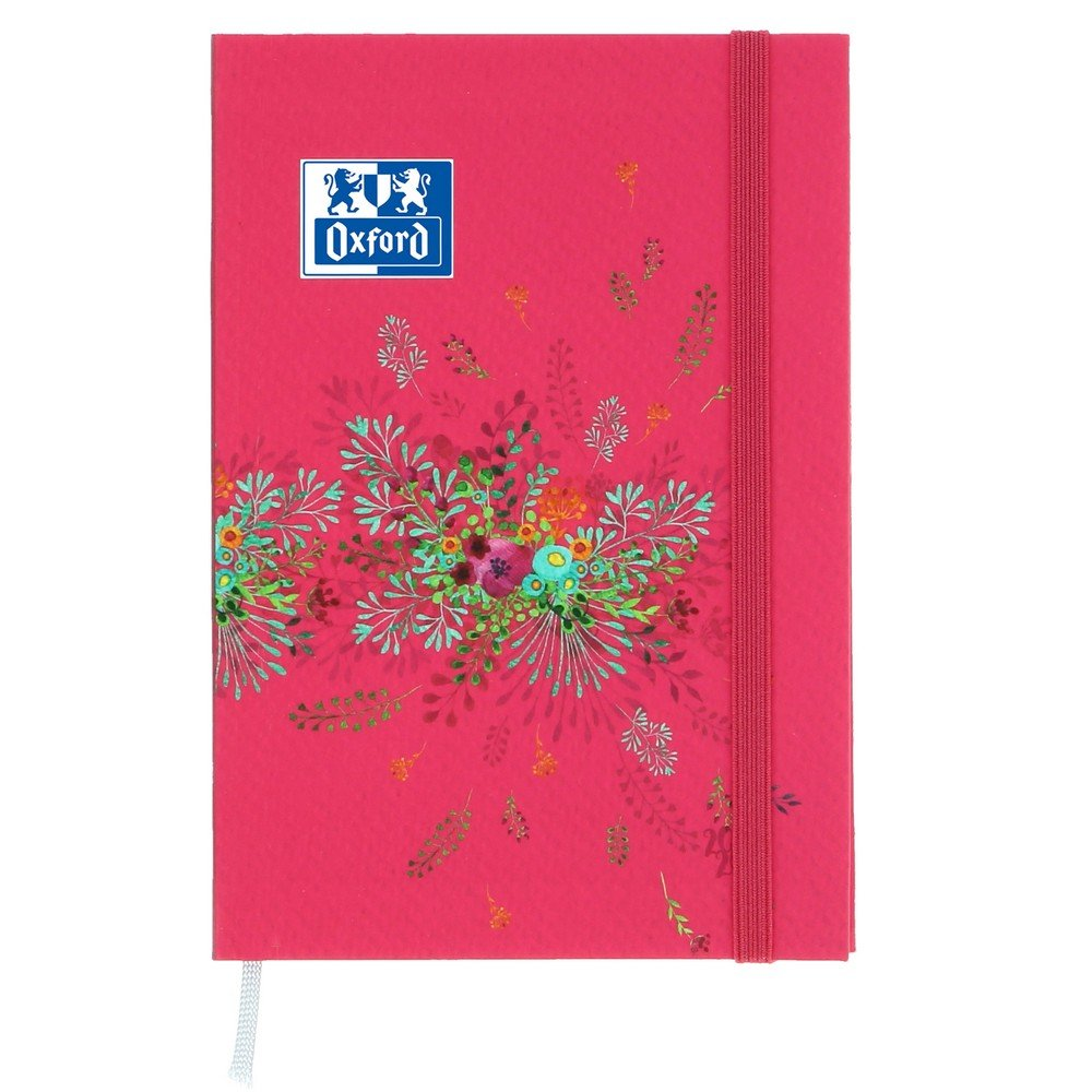 Oxford Flowers 2017-2018 Academic Diary, 1 Day per Page, 352 Pages, 12 x 18 cm, Red [English Language Not Guaranteed]