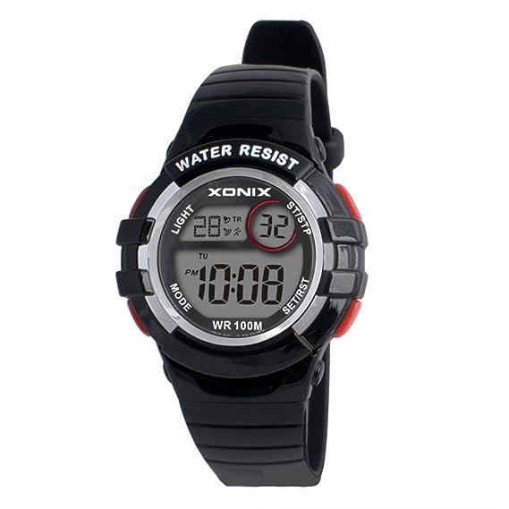 Niño Cronómetro digital,100m resistente al agua Luminoso Reloj deportivo Relojes electrónicos 24 horas Multifunción Niña Estudiante -E: Amazon.es: Relojes