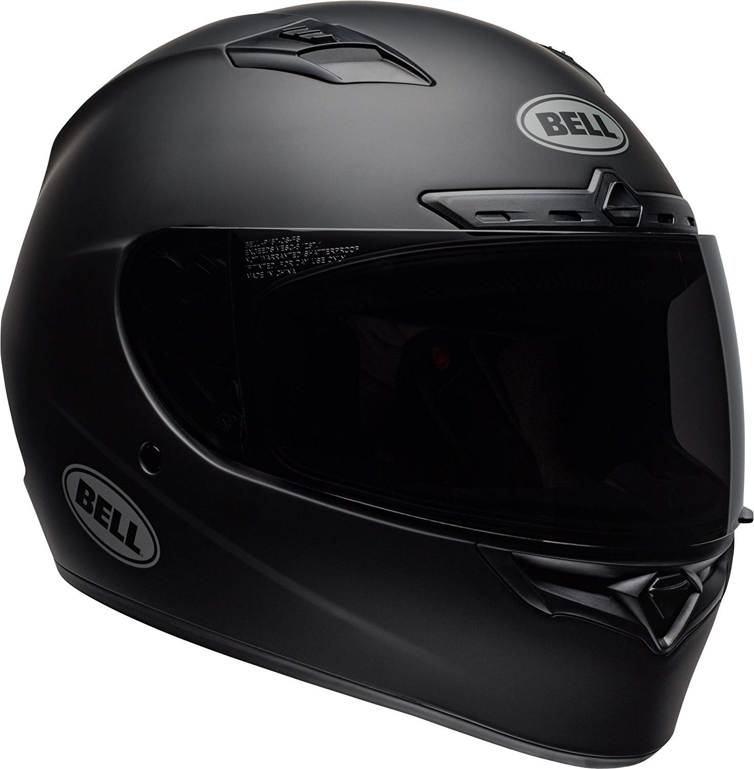Bell Qualifier DLX Blackout Street Motorcycle Helmet (Blackout Matte Black, XXX-Large) by Bell