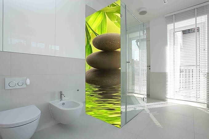 Vinilo para Mamparas baños Piedras de Rio |Varias Medidas 185x70cm | Adhesivo Resistente y de Facil Aplicación | Pegatina Adhesiva Decorativa de Diseño Elegante|: Amazon.es: Hogar