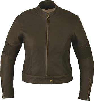 Moto Chaqueta Mujer de piel, marrón, chaqueta de piel mujer de piel de vacuno