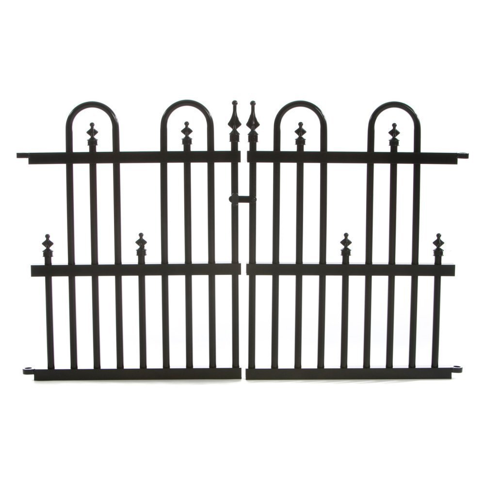 Amazon.com : Specrail Roxbury ROXBURY24G Aluminum Garden Fence Gate ...
