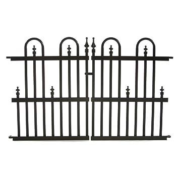 Charming Specrail Roxbury ROXBURY24G Aluminum Garden Fence Gate Panel, 24 By 36 Inch,  Black