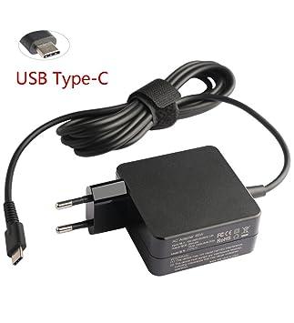 65 W USB type-c Cargador para Lenovo 01 fr024 IdeaPad Miix ...