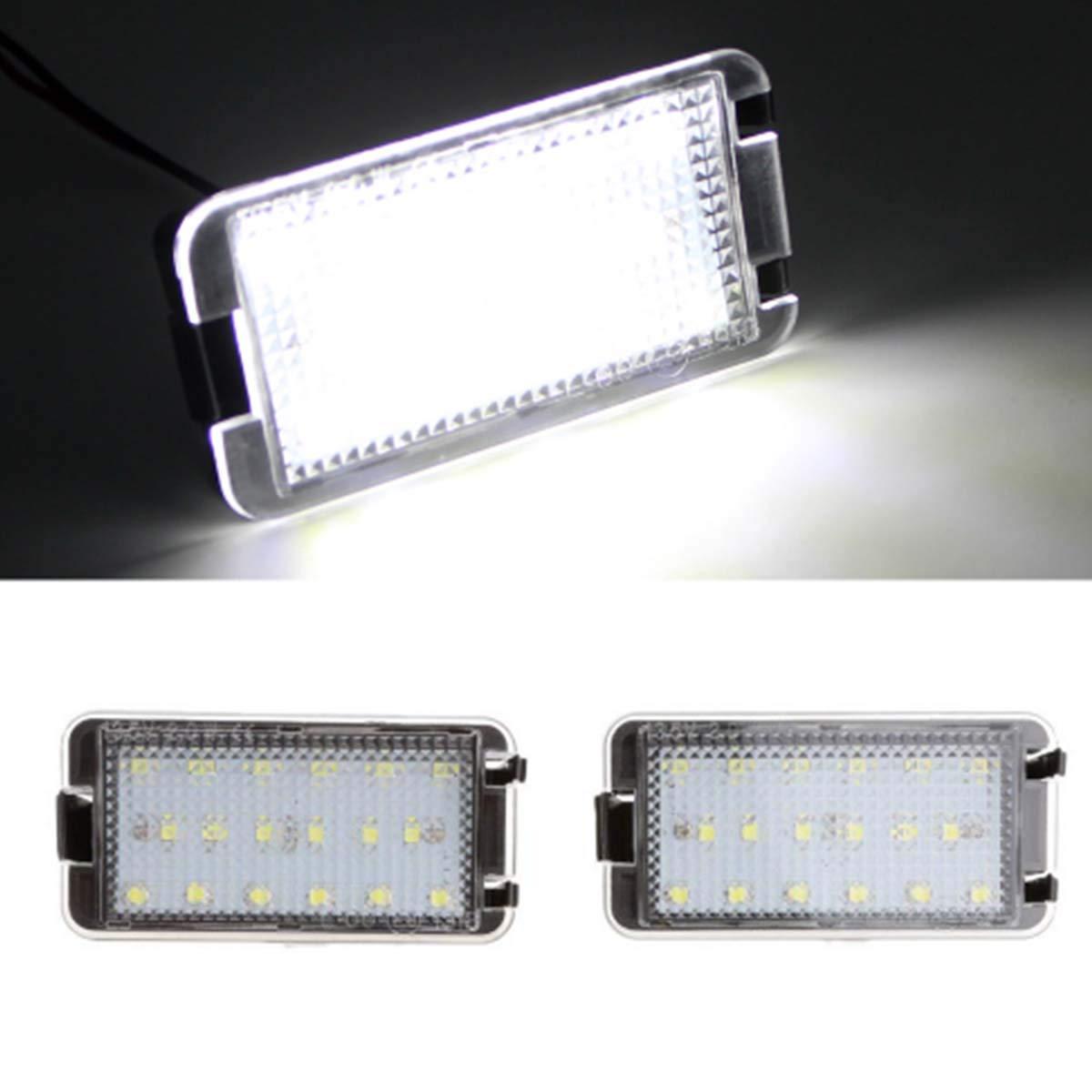 GOFORJUMP Luz de matrí cula LED Super Brillante 2X18SMD Canbus para 99-05 S/Eat Leon 1M 04-09 Altea Arosa Có rdoba MK1 MK2 Ibiza Toledo 5P